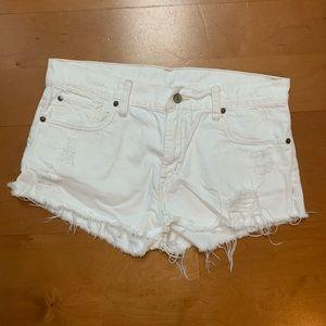 Ralph Lauren CutOff White Boyfriend Shorts Size 29